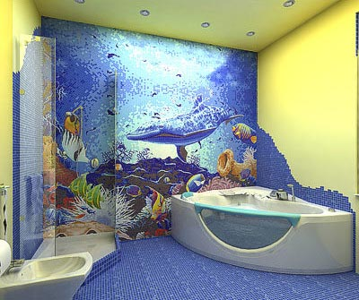 First wallpaper border cheap wallpaper borders for Sea bathroom ideas
